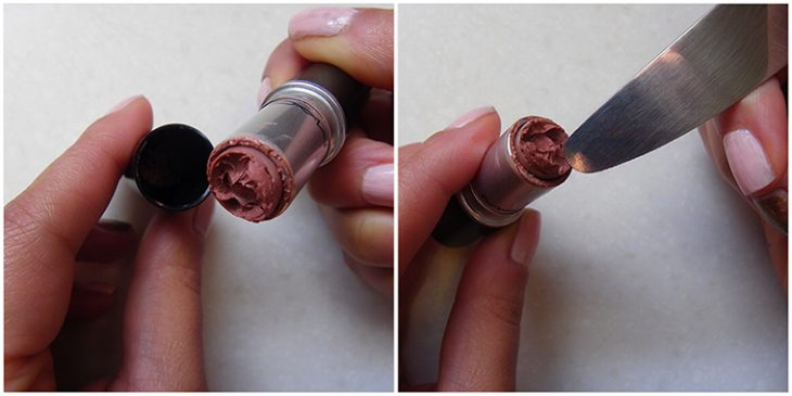 retirar residuos de lápiz labial