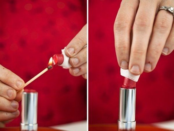 como reparar lápiz labial