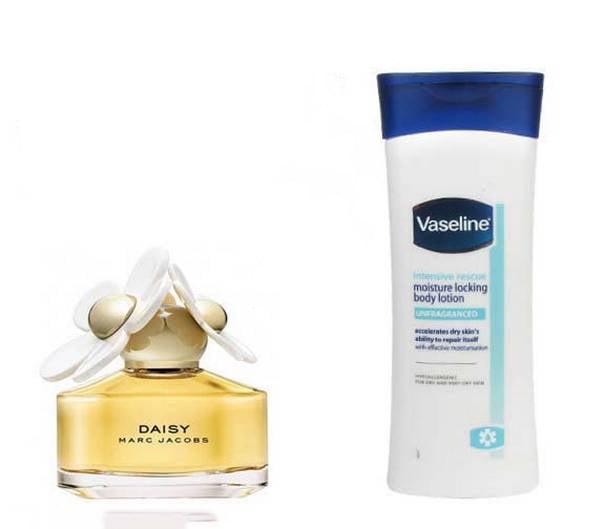perfume y crema para el cuerpo