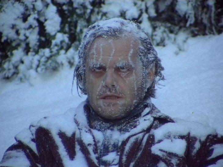 Jack nicholson congelado en la película el resplandor