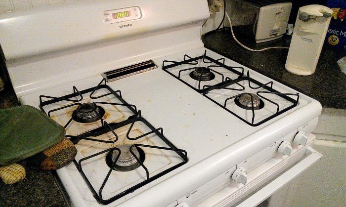 estufa sucia