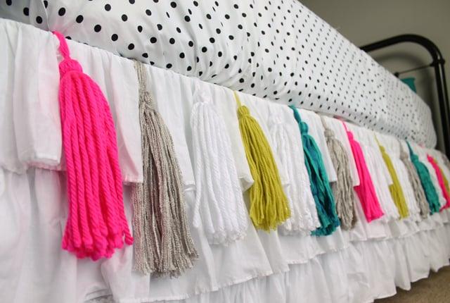 pompones de colores para rodapie