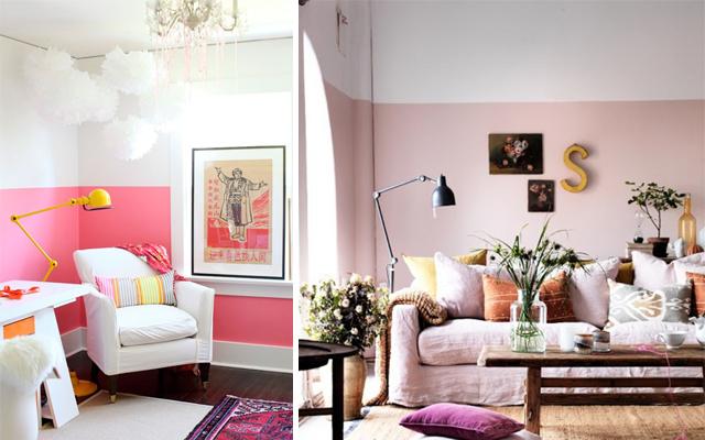 paredes pintadas de dos colores