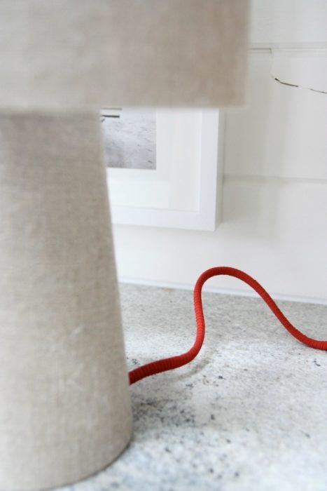 cables cubiertos con gamuza
