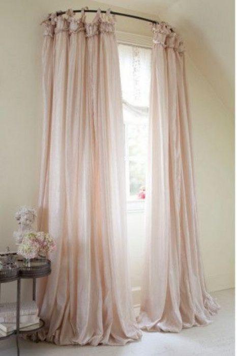 cortinero curvo para ventana