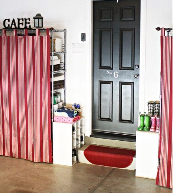 cortinas para cubrir estantes