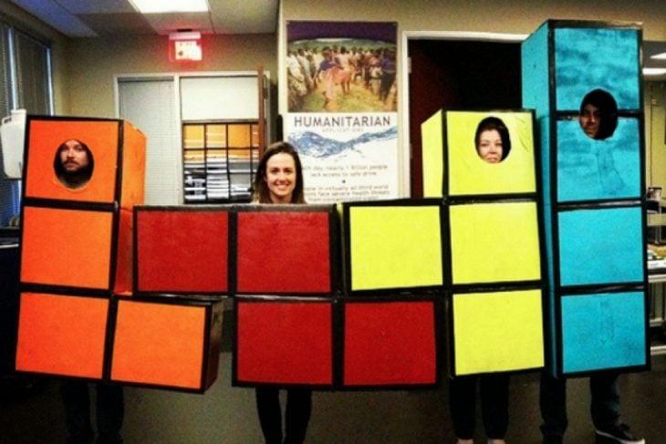 disfraz de tetris