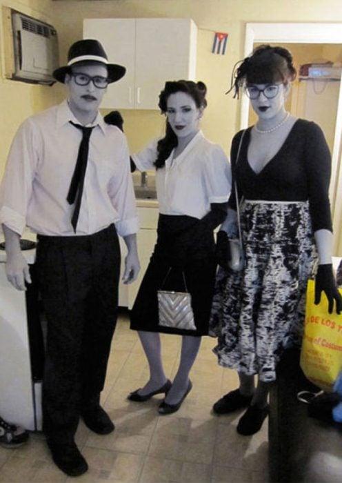 disfraz personajes blanco y negro