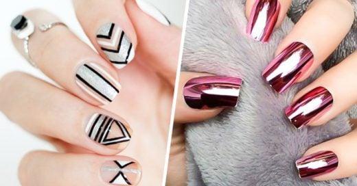 35 diseños metálicos para uñas