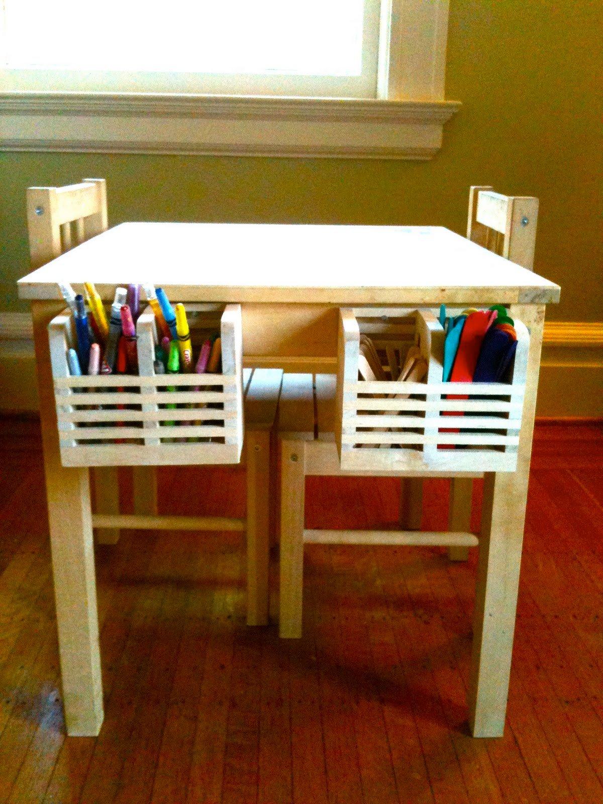 30 ingeniosas formas de mantener organizados tus espacios - Mesas para ninos pequenos ...