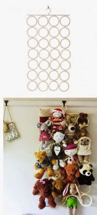 Percha en donde puedes colocar tus juguetes de peluche