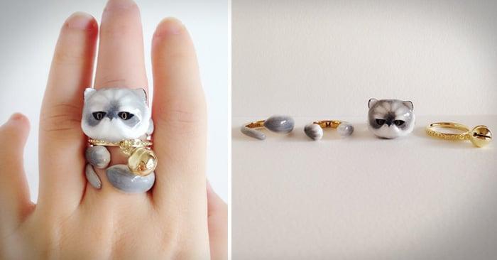Anillos de 3 piezas que juntos se convierten en un adorable animal