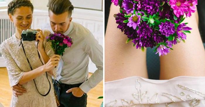 Esta novia decidió ser su propia fotógrafa el día de su boda. El resultado es increíble