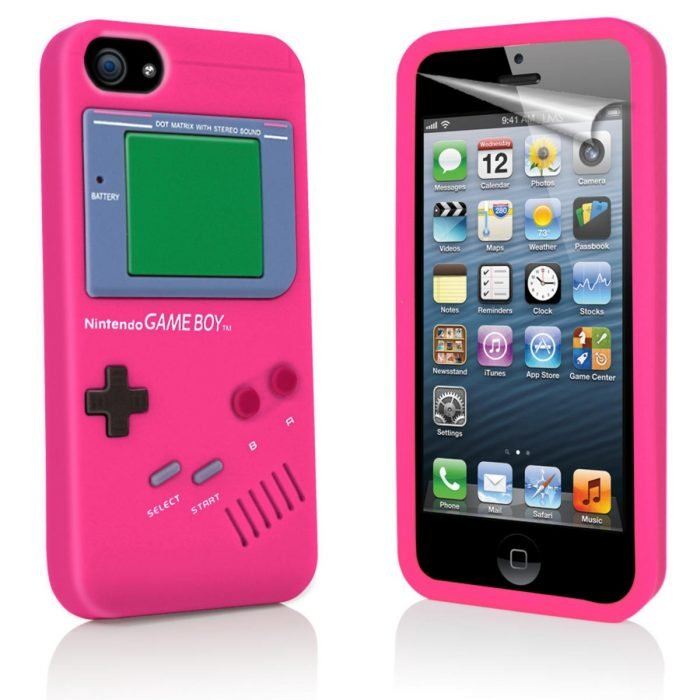 Funda para celular retro que es un game boy