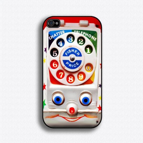 Funda retro para celular que es telefono de juguete