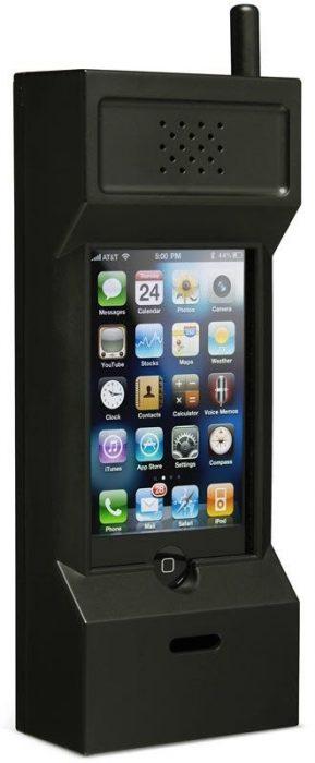 Funda retro para celular que es un telefono