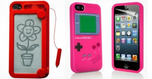 Lo retro nunca dejara de ser pasajero, aqui una muestra de fundas para celular con un toque de nostalgia