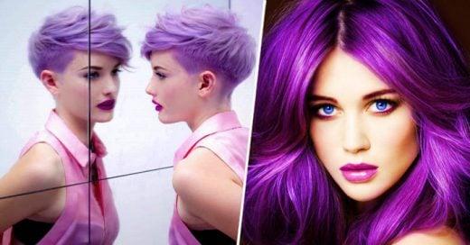 Color púrpura La última tendencia para teñir tu cabello este otoño. ¡Te encantará!