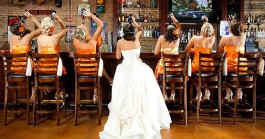 20 Ideas para la sesión de fotos con las damas de honor el día de tu boda. ¡Serán inolvidables!