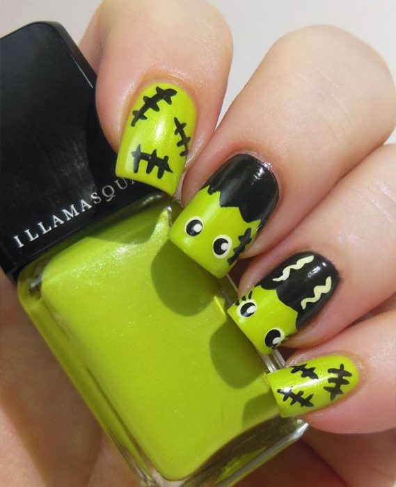 35 Diseños para lucir unas uñas perfectas en Halloween - a25