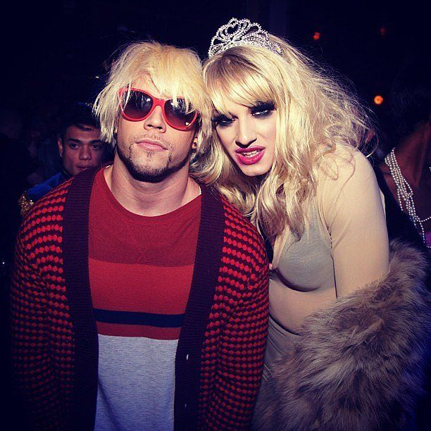 Disfraz de kurt cubain y Courtney Love