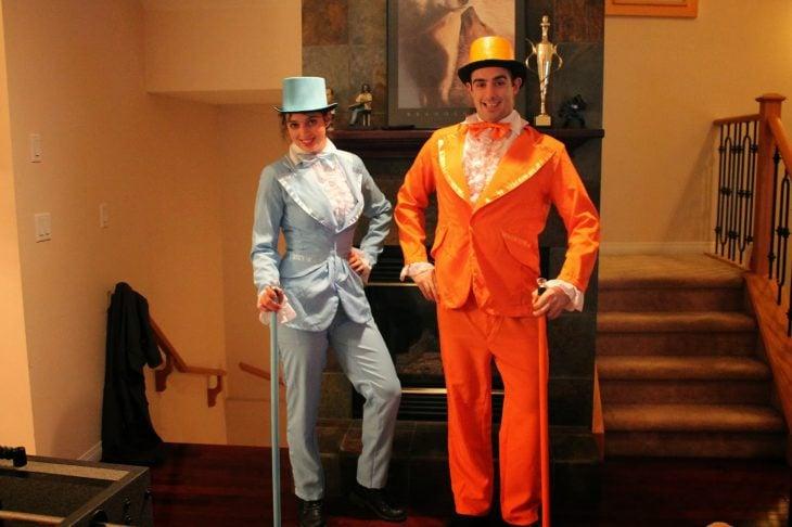 Disfraz de los personajes de la película una pareja de idiotas