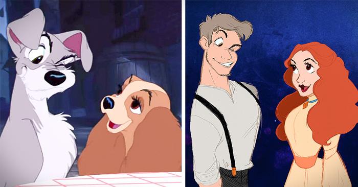 si los animales de Disney fueran humanos
