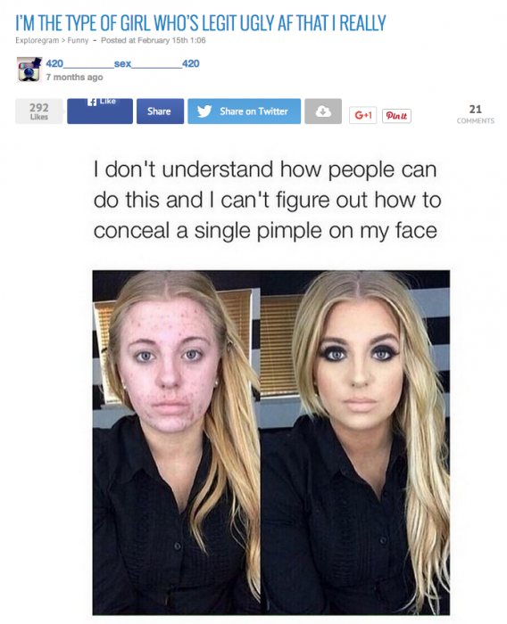 publicación en instagram de una chica que se hizo viral después de un meme