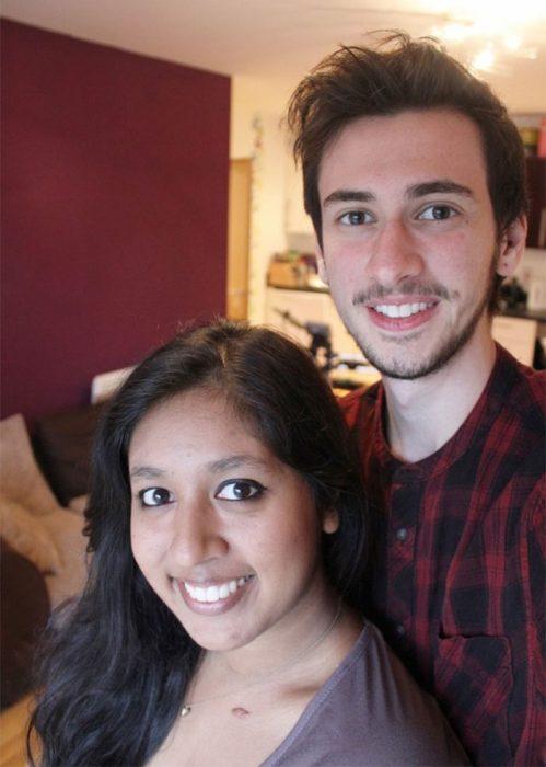 Jamie Raines y su novia