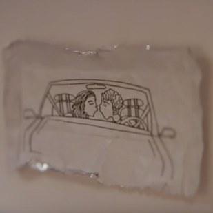 Envoltorio de una goma de mascar dibujado