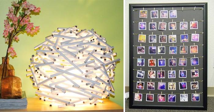 20 cosas para tu hogar que puedes hacer tu misma sin gastar Ideas geniales para decorar la casa
