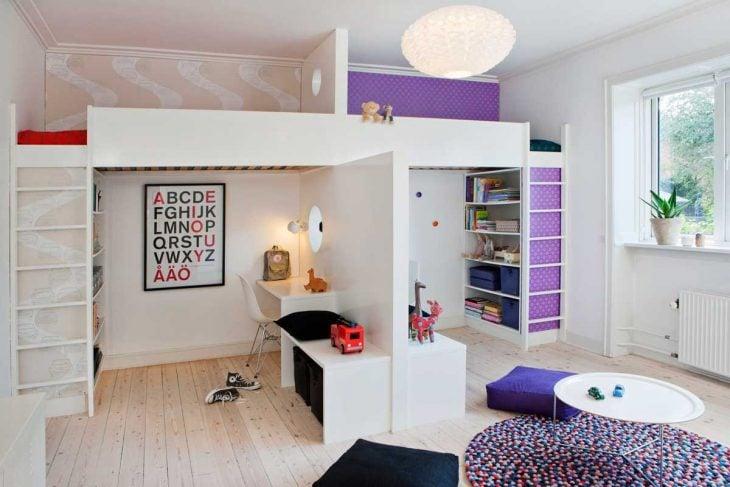 habitación para niña y niño en el mismo cuarto