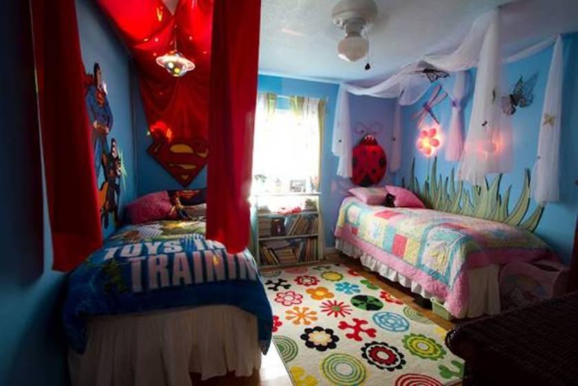 Ideas para dise ar una habitaci n compartida por ni o y ni a for Habitaciones de nina baratas