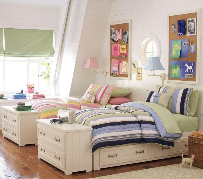 Ideas para dise ar una habitaci n compartida por ni o y ni a for Cuartos para nina y nino