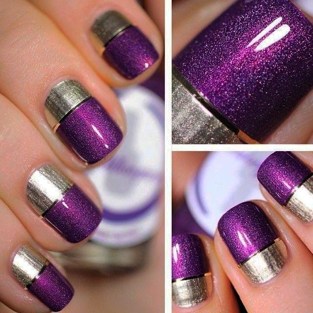 15 Diseños para lucir unas elegantes uñas color morado