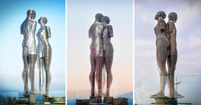 estatuas gigantes del amor