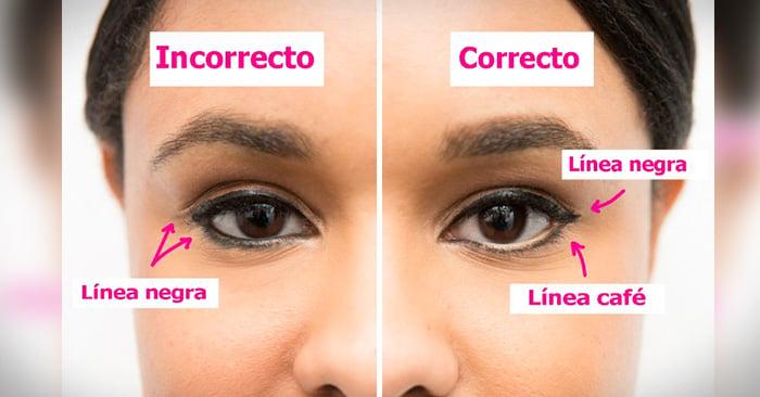 formas correctas de aplicarse el maquillaje