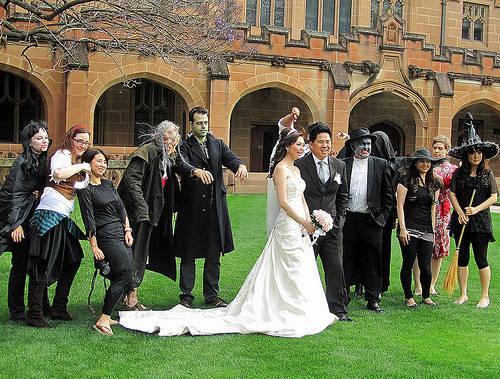 boda con tema de halloween