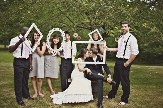 foto boda todos con marco