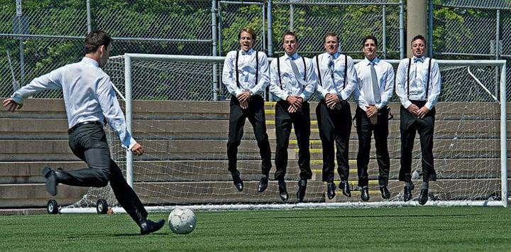 padrinos de boda futbol
