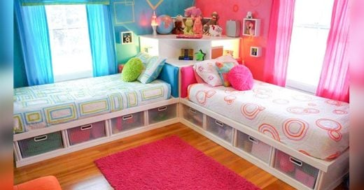 ideas para habitaciones divididas de niño y niña