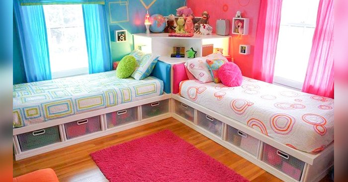 Ideas para dise ar una habitaci n compartida por ni o y ni a - Decorar habitaciones de ninos ...