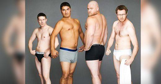 """como se veria si """"hombres reales"""" modelaran ropa interior"""