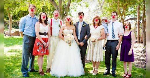 ideas creativas para una sesión de fotos de boda con la familia