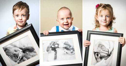 niños muestra fotos de su nacimiento prematuro