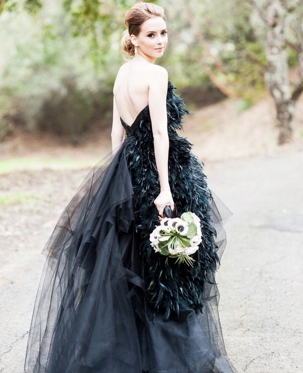 Vestidos de color negro para bodas
