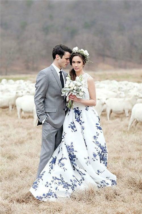 25 Novias que no usaron un vestido blanco el día de su boda d8b55f5addf9