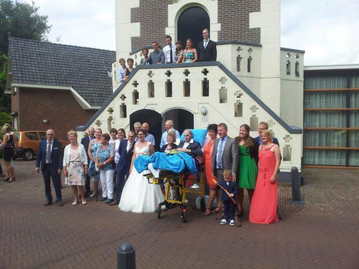 paciente terminal en la boda de su hija