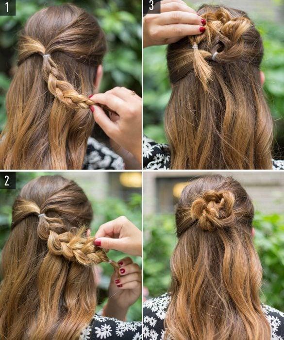 Peinado con trenza en pocos minutos