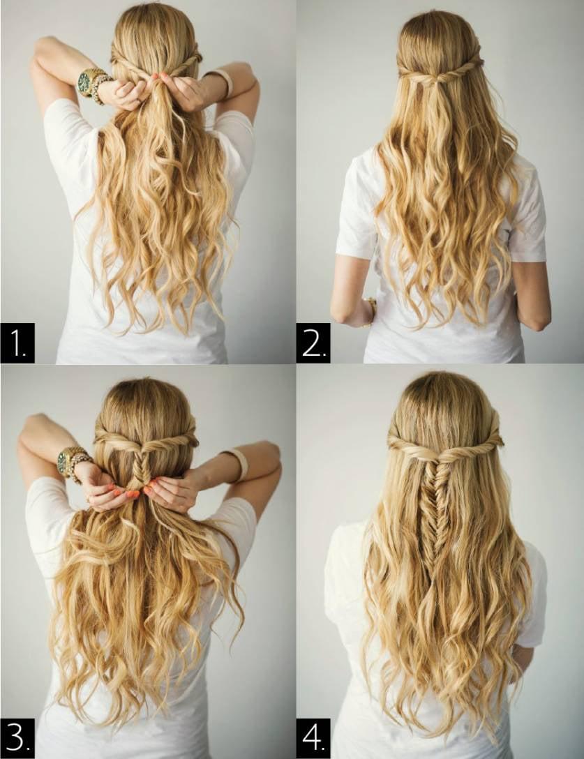 Sencillas y r pidas maneras de peinar tu cabello con estilo - Peinados faciles y rapidos paso a paso ...